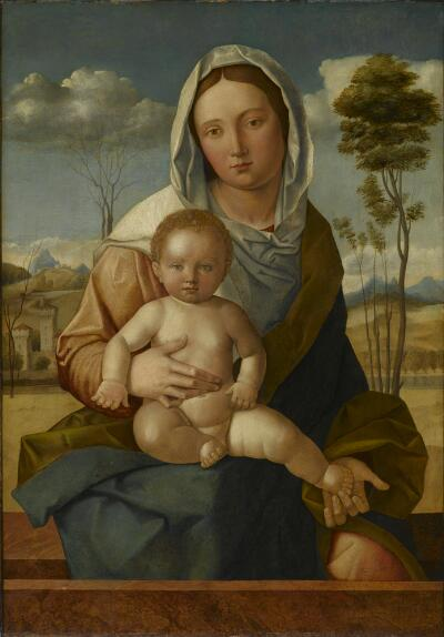 Madonna and Child in Landscape