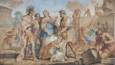 Dido Showing Aeneas Her Plans for Carthage