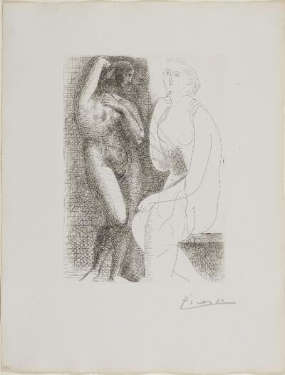 Suite Vollard, 1939, Paris: Nude Before a Statue