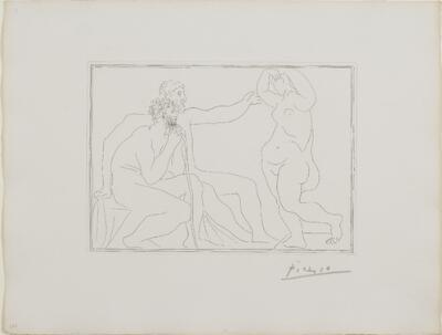 Suite Vollard, 1939, Paris: Two Sculptors Before a Statue