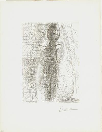 Suite Vollard, 1939, Paris: Seated Nude with Bended Leg (Seated Nude)