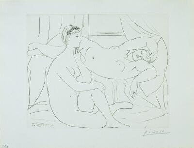 Suite Vollard:  Two Nudes Resting