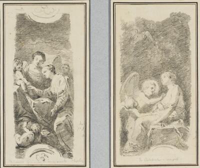Study After Mattia Preti: Mystical Marriage of St. Catherine (from San Pietro a Maiella); Study After Mattia Preti: St. Catherine Cured by an Angel (from San Pietro a Maiella)