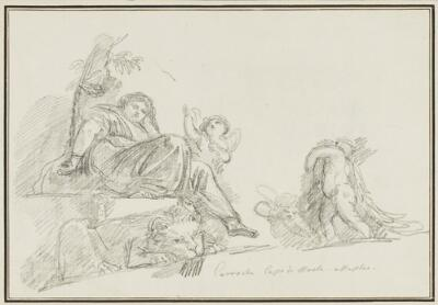 Study After Italian Artist: Allegory of Fortitude (from the Palazzo Capodimonte)