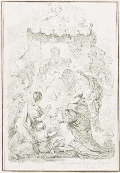 Study After Luca Giordano: The Madonna of the Rosary (from the Santo Spirito)