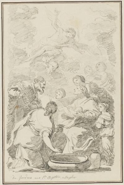 Study After Luca Giordano: Birth of the Virgin (from the Church of the Holy Apostles)
