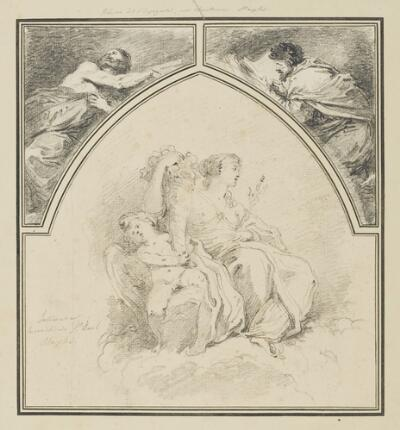 Study After Francesco Solimena: Abundance (from the Sacristy of San Paolo Maggiore); Study After Jusepe de Ribera: Prophets (from the Church of Certosa de San Martino)