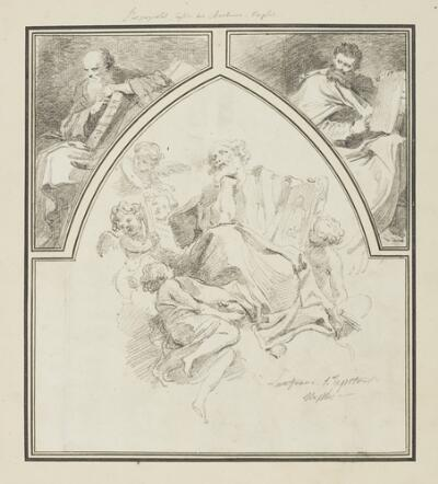 Study After Giovanni Lanfranco: St. Luke Surrounded by Angels (from the Church of the Holy Apostles); Study After Jusepe de Ribera: Prophets (from the Church of Certosa di San Martino)