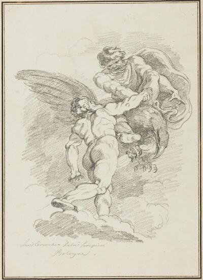 Study After Ludovico Carracci: Hercules and Jupiter (from the Palazzo Sampieri)