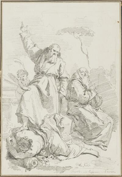 Study after Giovanni Battista Tiepolo: St. Fidelus of Sigmaringen Overthrowing Heresey (from Church of the Capucines)