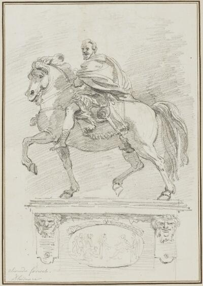 Study after Francesco Mochi:  Equestrian Statue of Alessandro Farnese (from the Piazza dei Cavalli)