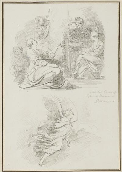 Study After Ludovico Carracci: Birth of the Virgin (from Palazzo Vescovile); Study After Cammillo Procaccini: Assumption of the Virgin (from the Cathedral)