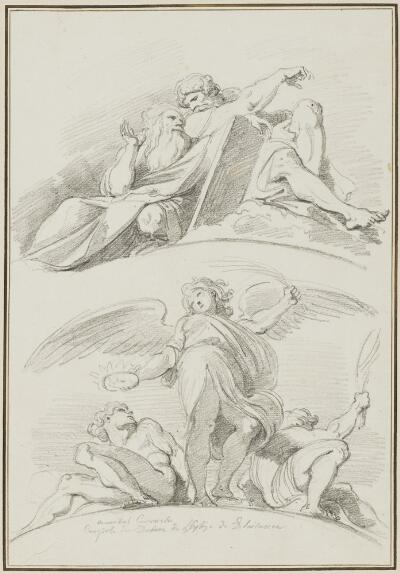 Study After Ludovico Carracci: Angels (from the Choir Vault of the Cathedral)