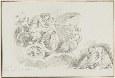 Study After Giulio Romano: Venus in Her Chariot (from the Palazzo del Te, Sala de Psiche)