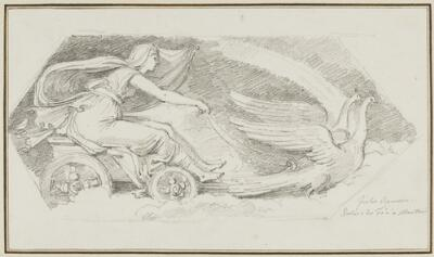 Study After Giulio Romano: Juno in Her Chariot (from the Palazzo del Te, Sala de Venti)