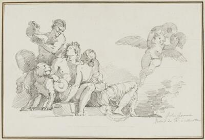 Study After Giulio Romano: Bacchus and Ariadne (from the Palazzo del Te, Sala di Psiche)