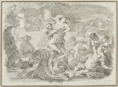 Study After Luca Giordano: Rape of the Sabines (from the Vecchia Collection)