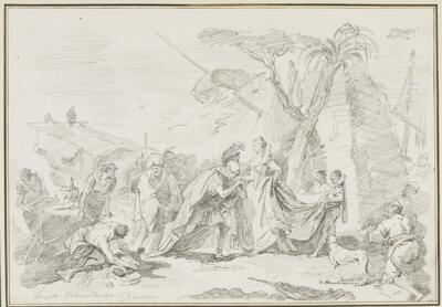 Study After Giovanni Battista Tiepolo: The Meeting of Anthony and Cleopatra
