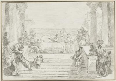 Study after Giovanni Battista Tiepolo: The Banquet of Cleopatra (from the Vecchia Collection)