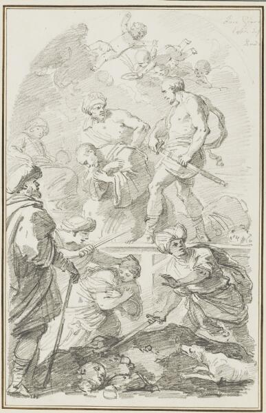 Study After Luca Giordano: Martyrdom of St. Placide and His Companions (from the Basilica of Santa Giustina)