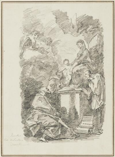 Study After Federico Bencovich:  Madonna and Child with Three Saints (from the Collection of Console Smith)