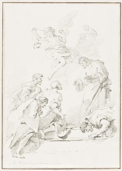 Study After Sebastiano Ricci:  Institution of the Holy Sacrament (from the Church of Corpus Domini)