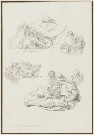 Study After Sebastiano Ricci: Moses Striking the Rock (from Santi Cosma e Damiano)