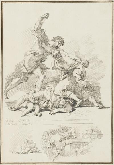 Study After Sebastiano Ricci: Massacre of the Innocents (from the School of the Carita)
