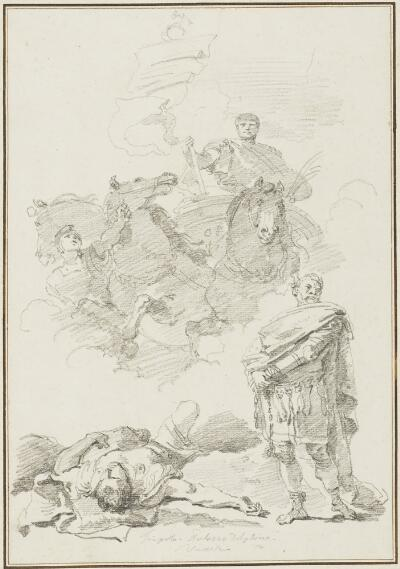 Study After Giovanni Battista Tiepolo: Triumph of Marcus Aurelius (from the Palazzo Dolfin)