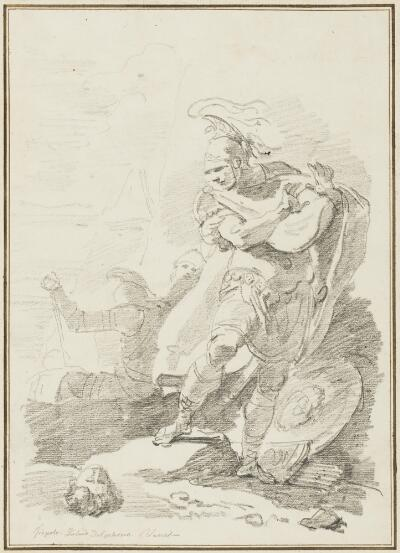 Study after Giovanni Battista Tiepolo:  Annibale Seeing the Head of Asdrubale (from the Palazzo Dolfin)