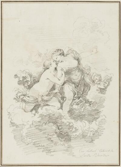 Study after Pietro Liberi: Two Women in the Clouds (Diana and Callisto?) (from the Collection of Console Smith)