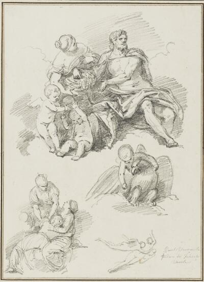Study After Paolo Veronese: Jove Crowning Germany (from the Fondaco dei Tedeschi)