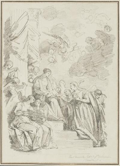 Study After Paolo Veronese: Mystical Marriage of St. Catherine (from Santa Caterina)