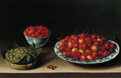 Still Life with Cherries, Strawberries and Gooseberries