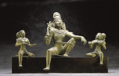 Aiyanar with Two Consorts