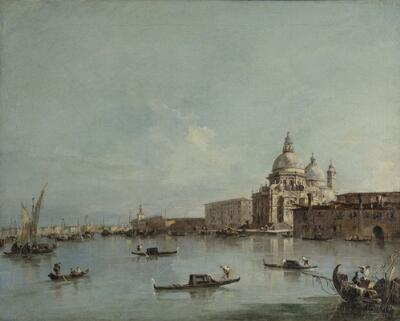 View of the Santa Maria della Salute with the Dogana di Mare