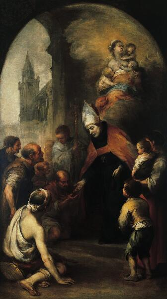 Saint Thomas of Villanueva Giving Alms to the Poor