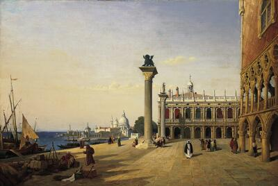 View of Venice: The Piazzetta Seen from the Riva degli Schiavoni