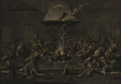 Friars Around a Hearth