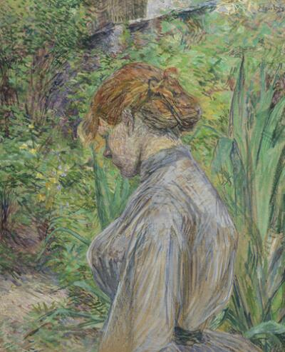 Red-Headed Woman in the Garden of M. Foret