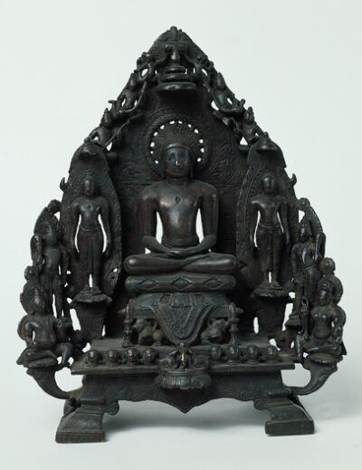 Jain Triad with Neminatha and Retinue