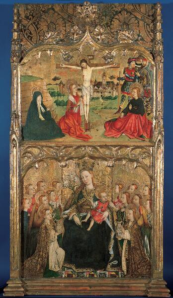 The Crucifixion and Madonna and Child Enthroned with Angels