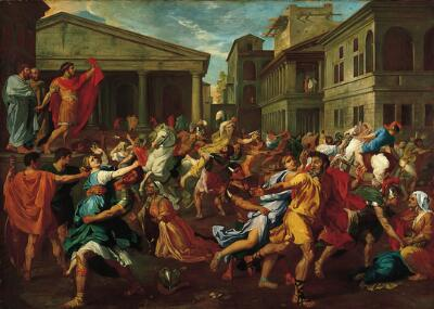 The Rape of the Sabines (after Nicolas Poussin)
