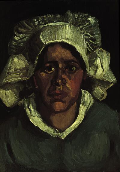 Head of a Peasant Woman in a White Bonnet