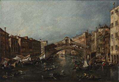 View of the Rialto, Venice, from the Grand Canal