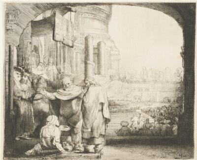 Peter and John Healing the Cripple at the Gate of the Temple