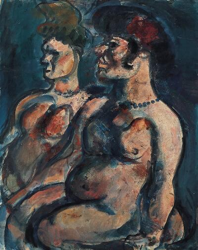 Two Nudes (The Sirens)