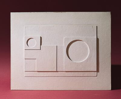 Decor for 7th Symphony Ballet (4th Movement): White Relief Version I