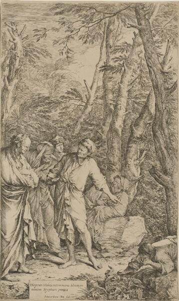 The Works of Salvator Rosa: Diogenes Casting Away His Bowl