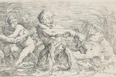 The Works of Salvator Rosa: Battling Tritons